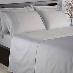 Hotel 200 Thread count Housewife Pillowcase Pair Silver