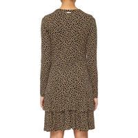 Leopard Print Flounce Dress