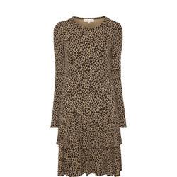Leopard Print Flounce Dress