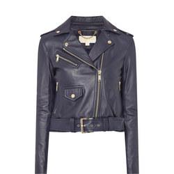 Leather Moto Biker Jacket