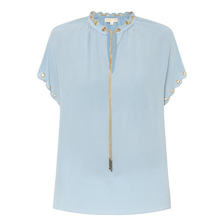 Scalloped Chain Top