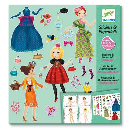 Paper Dolls Sticker Set
