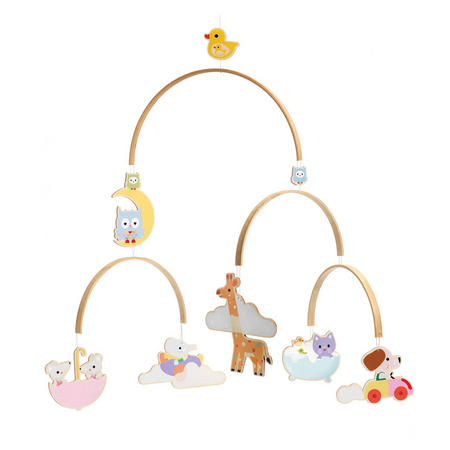 Baby Animals Wooden Mobile
