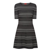Swany Striped Fit & Flare Dress