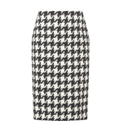 Raimi Houndstooth Pencil Skirt