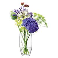 Flower Barrel Bouquet Vase 20cm Clear