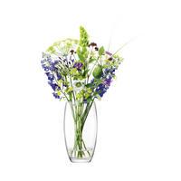 Flower Barrel Bouquet Vase 29cm Clear