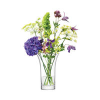 Flower Flared Bouquet Vase 22cm Clear