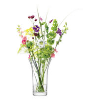 Flower Flared Bouquet Vase H26cm Clear