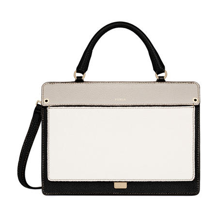 Like Small Colour Block Top Handle Bag
