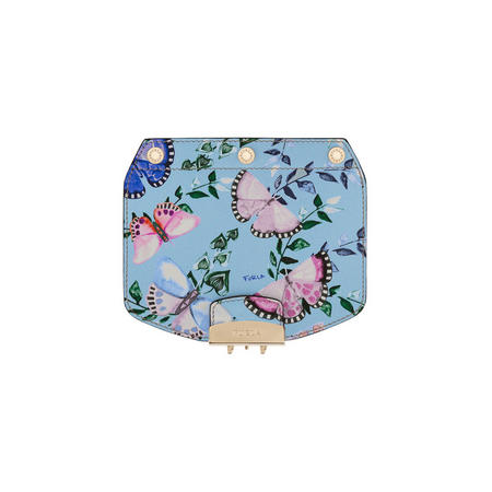 Metropolis Butterfly Print Mini Crossbody Flap