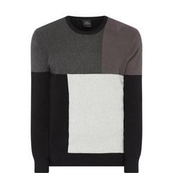Tri-Colour Block Sweat Top