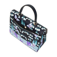 Metropolis Floral Print Top Handle Bag