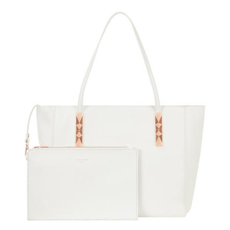 Paigie Leather Tote Bag