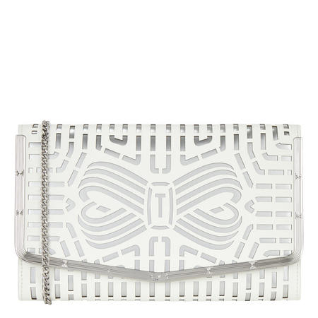 Bree Bow Leather Clutch Bag