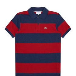 Boys Thick Stripe Polo Shirt