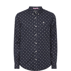 Triangle Print Oxford Shirt
