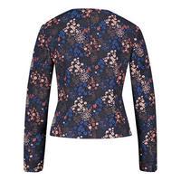 Flower Print Studded Blazer