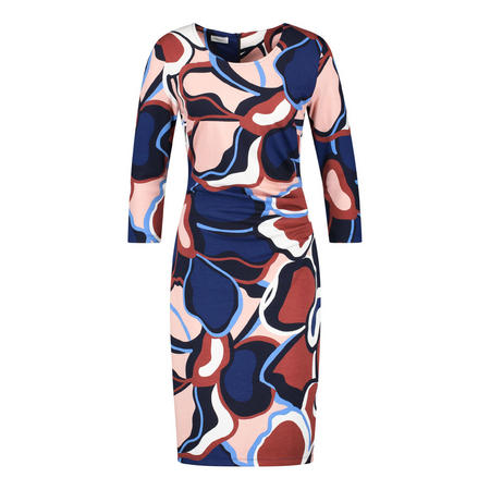 Multi-Print Long Sleeve Dress