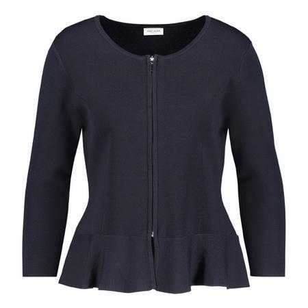 Flounce Hem Zip Jacket