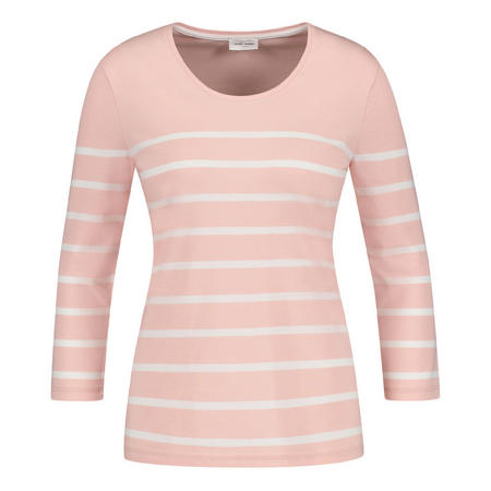 Striped Crop Sleeve T-Shirt