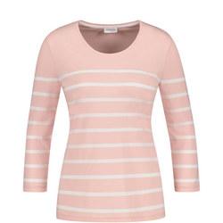 Striped Crop Sleeve T-Shirt