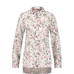 Flower Print Longline Shirt