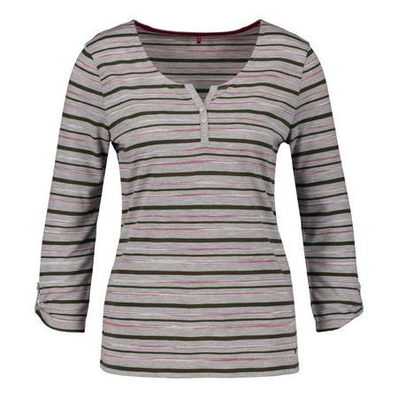 Crop Sleeve Striped Top