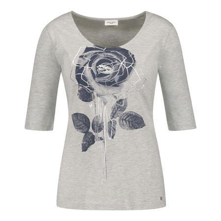 Rose Crop Sleeve T-Shirt