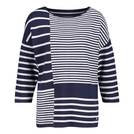 Multi-Stripe Crop Sleeve Top
