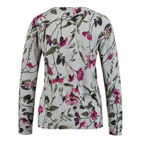 Flower Print Knitted Top