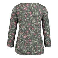 Flower Print Crop Sleeve T-Shirt