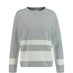 Wide Stripe Knitted Top