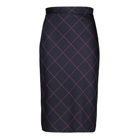 Cross Hatch Midi Skirt