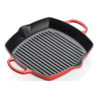 Cast Iron Signature Deep Square Grill 30cm Cerise