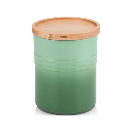 Stoneware Medium Storage Jar with Wooden Lid Rosemary