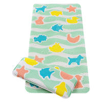 Under The Sea Bath Mat With Kneeling Cushion