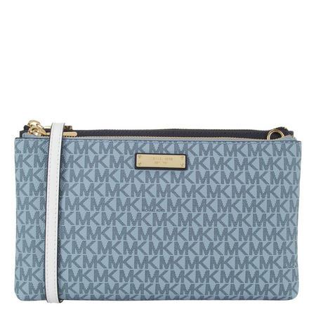 Adele Top Zip Logo Crossbody Bag