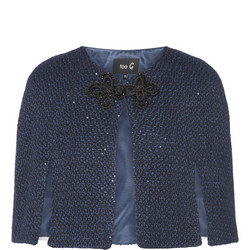Sequin Short Cape