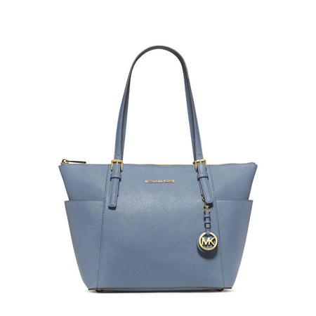 Jet Set Saffiano Leather Top Zip Tote Bag