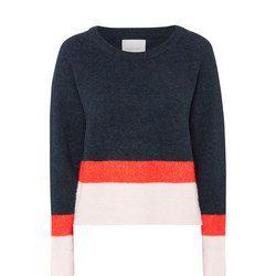 Alpaca Wool Colour Block Sweater