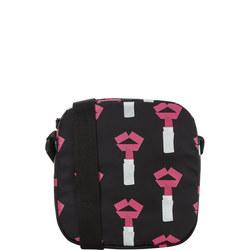 Lipstick Print Crossbody Bag