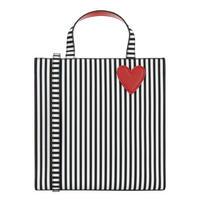 Striped Square Tote Bag