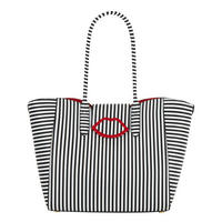 Cupids Bow Striped Tote Bag