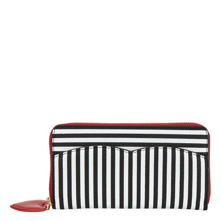 Cupids Bow Striped Wallet