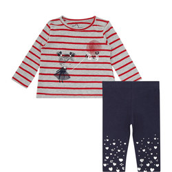Baby Striped Two Piece Set