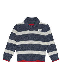 Boys Cowl Neck Striped Sweater