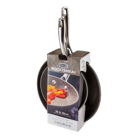 Rocktanium 2 Piece Non-Stick Frying Pan Set