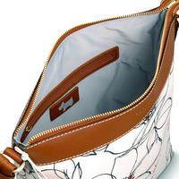 Linear Flower Medium Crossbody Bag