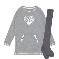 Heart Dress And Tights Set